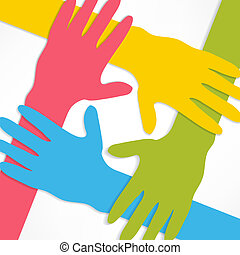 forbinde, hænder