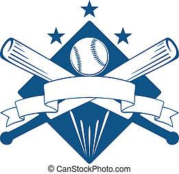 forening, mesterskab, emblem, eller, baseball
