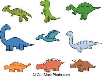 forhistorisk dyr, doodle, cartoon