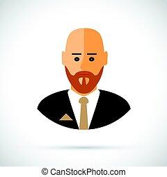 forretningsmand, cartoon, illustration