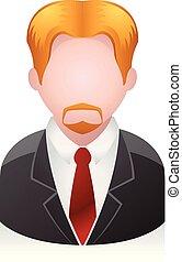 forretningsmand, folk, -, avatar, iconerne