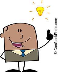 forretningsmand, lys ide