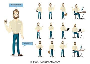 forretningsmand, set., karakter