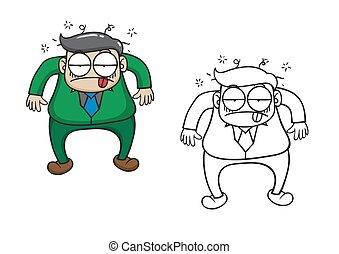 forretningsmand, vektor, karakter, cartoon