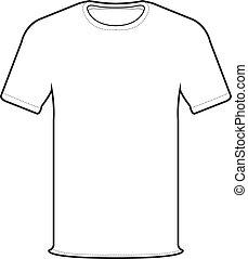 forside, vektor, t-shirt