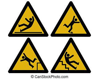 forsigtighed, tegn