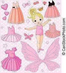 forskellige, baby pige, klæde