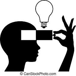 forstand, ide, lær, nye, undervisning, åbn
