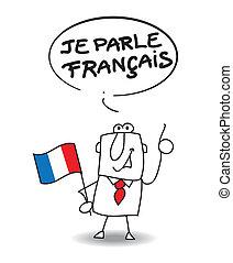 fransk, tal