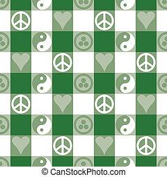 fred, grønne, plaid