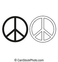 fred, -, grønne, vektor, tegn, ikon