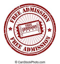 frimærke, admission, fri