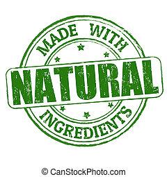 frimærke, lavede, naturlig, ingredienser