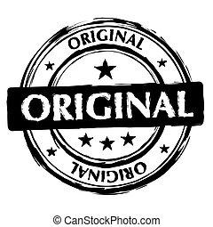 frimærke, original, blæk