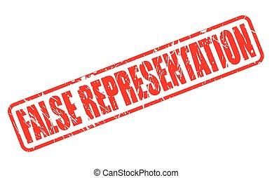 frimærke, representation, falsk, rød, tekst