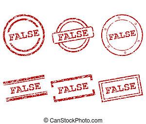 frimærker, falsk