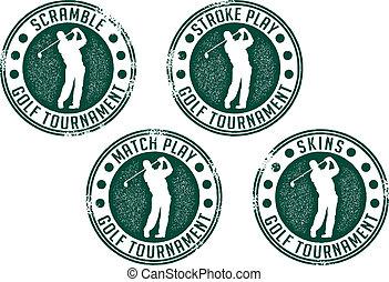 frimærker, turnering, golf