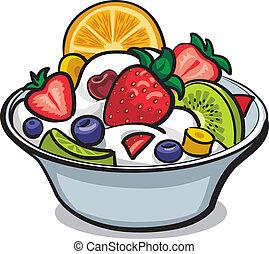 frugt frisk salat