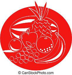 frugt, kunst, hæfte