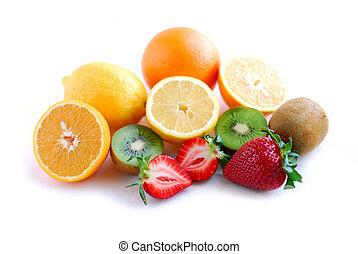 frugt, sorteret