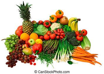 frugter, friske grønsager