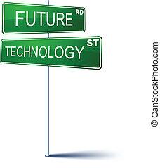 future-technology, tegn., retning
