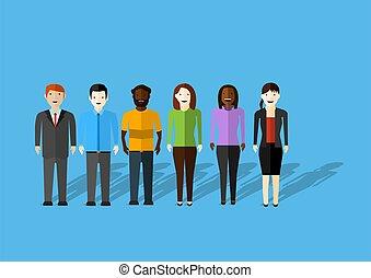 gå, forretningsmand, handling, working., gestures., konstruktion, beliggende, sæt, emotions, forskellige, adskillige, karakter, løb, præsentation, vektor