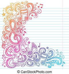 g, notere, sketchy, musik, doodles, clef