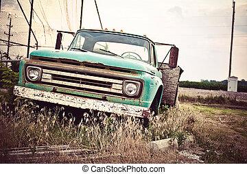 gamle, automobilen, rute, os, rustne, historiske, 66, langs