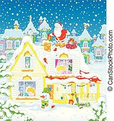 gaver, santa, børn, claus