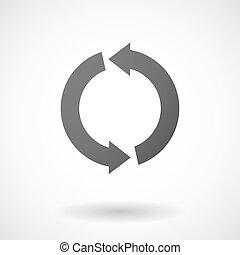 genbrug, baggrund, ikon, hvid