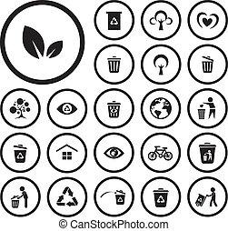 genbrug, miljø, ikon
