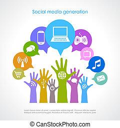 generation, medier, sociale