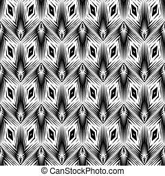 geometrisk mønster, monochrome, konstruktion, seamless