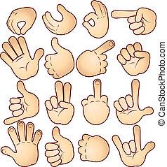 gestuser, hænder
