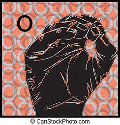 gestuser, tegn sprog, hånd