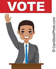 give, politiker, amerikaner, tale, afrikansk
