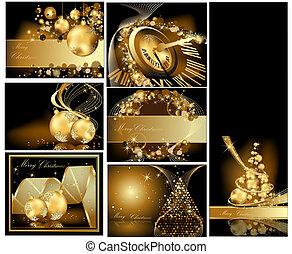 glædelig jul, guld, baggrund