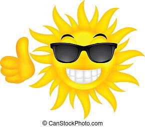 glade, glas, sol, sommer