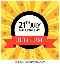 glade, konstruktioner, vektor, illustration., belgien, national, day., osv., bannere, baggrunde, baggrund, 21., stickers, juli, ferie, cards, plakater, uafhængighed