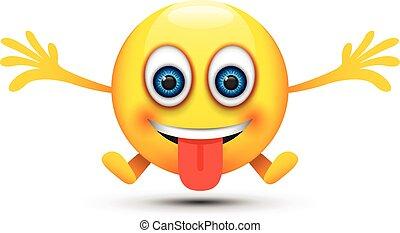 glade, tunge ydre, emoji