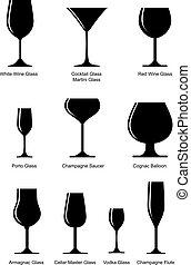 glas, sæt, alkoholikeren