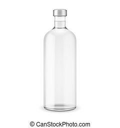 glas, vodka, cap., flaske, sølv