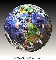 globale, folk, netværk