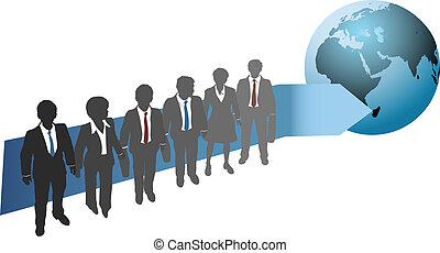 globale, fremtid, arbejde, folk branche