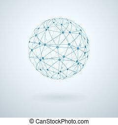 globalt netværk, ikon