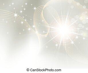 gnistre, starburst, -, baggrund