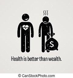 godt, sundhed, end, rigdom