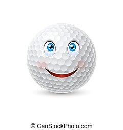 golf bold, karakter, cartoon