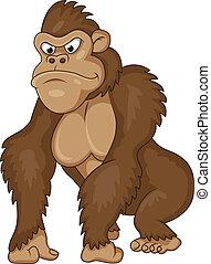 gorilla, cartoon